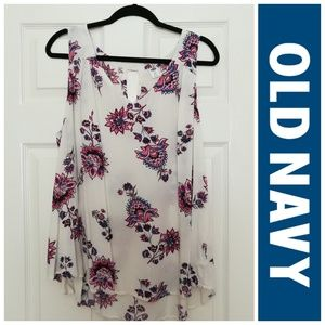 Old Navy Cream Floral Tank